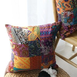 $enCountryForm.capitalKeyWord Australia - Vintage Pillows Bohemian Dakimakura Ethnic Style Cotton Pillow for Waist Cushion Home Decor Back Rest Bedding Decorative
