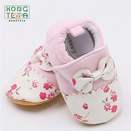 wholesale cotton baby booties Canada - Fashion New Spring Autumn Winter Baby Shoes Girls Boy First Walkers Slippers Newborn Baby Girl Crib Shoes Footwear Booties 0-18M