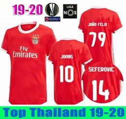 058a1f5d45a Thailand 2019 2020 Benfica FC JONAS home RED Soccer JerseyS 19 20 PIZZI  Maillots de foot Salvio KROVINOVIC Football T-shirts Camisa Portugal