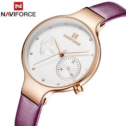 Wholesale Naviforce NF5001 Women Watches Leather belt Ladies Quartz Wrist Watch Women Watches Sport Relogio Feminino Montre Femme