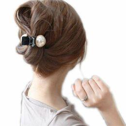 $enCountryForm.capitalKeyWord Australia - 1 Pcs Fashion Women Girls Large Pearl Hair Clips Pins and Rhinestone Decorated Hair Clip Pin Claw Accessories