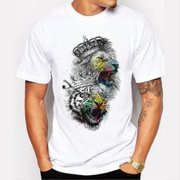 $enCountryForm.capitalKeyWord Australia - Men Tops 2019 Summer Crown Lion 3D White Men's T-shirt Fashion Animal Print T-Shirt Men Casual Short-Sleeve Tee Shirt Homme 4XL