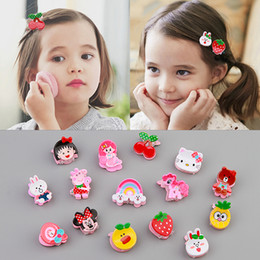 little hair clips Australia - Children's Catch Clip Girl Tiara Hair Accessories Barrettes Cute Little Clip Color Mixing Baby Cartoon Hair Claws Mini Hairpins