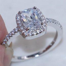 Bijoux Wedding NZ - 925 Solid Silver Rings For Women Wedding Jewelry Bijoux AAAAA zirconia vintage Accessories Engagement Bag Bijouterie
