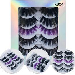 $enCountryForm.capitalKeyWord Australia - 5 Pairs Multipack 3D Soft Faux Mink Hair False Eyelashes Handmade Wispy Fluffy Long Lashes Natural Eye Makeup Tools Faux Eye Lashes