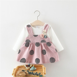 $enCountryForm.capitalKeyWord Australia - Fashion Spring Autumn Baby Children Dresses Girl Long Sleeve Cotton Cute Big Dot Dress Infant Kid Princess Dress