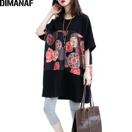 Oversized Batwing Shirts NZ - Dimanaf Women T-shirt Cotton Plus Size Summer Batwing Sleeve Female Fashion Polka Dot Basic Tops Casual Oversized Loose T-shirt Y19042501
