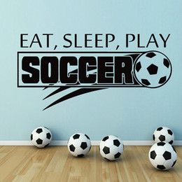 $enCountryForm.capitalKeyWord Australia - Soccer Ball Football Eat Sleep Play Vinyl Wall Sticker Decal Boy Kids Room Sport Kids Room Art Decoration