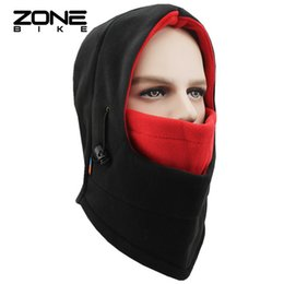 Wholesale ZONEBIKE Warm Sports Winter Face Mask Bicycle Bike Running Training Thermal Windproof Balaclava Snowboard Cycling Scarf One Size