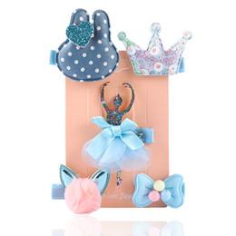 $enCountryForm.capitalKeyWord NZ - Baby Girls Hairpins Barrettes Cartoon Flower Crown Bowknot Hair Clips Barrettes Headwear Hair Accessories