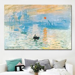 impressions canvas print Canada - 1 Piece HD Print Claude Monet Impression Sunrise Landscape Oil Painting on Canvas Art Wall Picture Canvas Poster No Frame