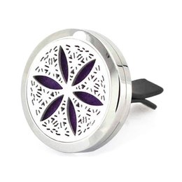 snowflake clip 2019 - Car Mini Vent Clip Air Freshener Essential Oil Diffuser 316L Steel Locket 1Pads snowflake cheap snowflake clip