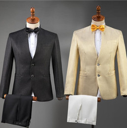 $enCountryForm.capitalKeyWord Australia - Chinese tunic suit for men blazer boys prom mariage suits fashion slim masculino latest coat pant designs chorus Chinese style