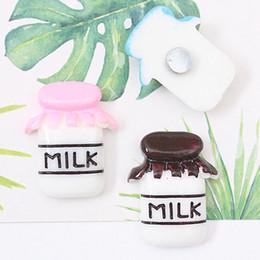 Small Magnets Australia - Milk Bottle Refrigerator Stickers Cartoon Magnetic Refrigerator Stickers Cartoon Small Milk Bottles Shape Fridge Magnets