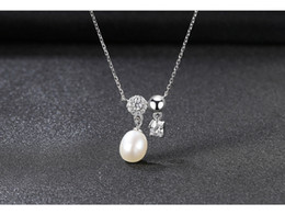 snake pearl pendant NZ - S925 Sterling Silver Pendant Necklace Clavicle Chain Jewelry Natural Freshwater Pearl Ladies Accessories Yba02 J190611
