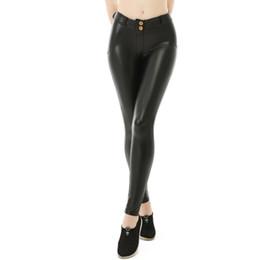 d105bdf7cce489 Women Winter Fleece Leather Leggings Faux Yoga Pants Warm Yoga Leggings  Black Lined gym Active PU leather