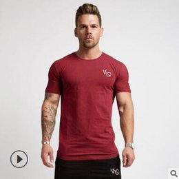 Wholesale Casual Sport T Shirt Men Cotton Dry Fit Gym Training Tshirt Men Rashgard Running Shirt Sportswear Bodybuilding Shirt Fitness Top