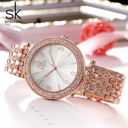 Glasses Trade Australia - In 2019, Shengke Foreign Trade Explosive Diamond-inlaid Watches, white, pink, light yellow, high-strength glass, waterproof performance, fas