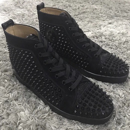 Popular Casual Shoes For Men Australia - ES3432 Women\'s Red Bottom Spikes Sneakers Shoes For Men Luxury Designer High Top Popular gentleman designer lace-up sneakers,leisure,casual
