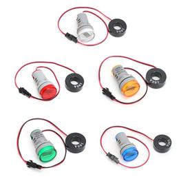 Digital Ampere Display Australia - 1PC 220V AC 22mm Digital Display Ampermeter Monitor Current Indicator Signal Light Ammeter Tester Measuring 0-100A Ampere Meter
