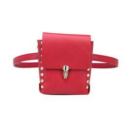 Travel Bum Bags Leather Australia - good quality 2019 Fashion Pu Leather Waist Packs Bum Bag Women Rivet Money Pouch Travel Waist Bags Lady Bar Nightclub Waist Bags