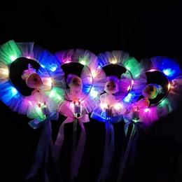 Flashing Fairy wands online shopping - Children LED Glow Stick Colorful Fairy Wand Magic Flash Stick Novelty Toy
