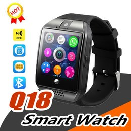 $enCountryForm.capitalKeyWord Australia - Q18 Smart Watch Bluetooth Wearable Curved Screen High Quality Support NFC SIM GSM Facebook camera For Android IOS Phone Wristwatch SB-Q18