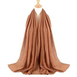 $enCountryForm.capitalKeyWord UK - Hot Sale Women Pleated Cotton Scarf Plain Solid Wrinkle Crinkle Design Shawl Wraps Stole Muffler Muslim Hijab Headscarf Turban