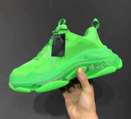 Discount crystal rubbers - Paris 2019 Crystal Bottom Triple-S Leisure Shoes Luxury Dad Shoes Platform Triple S Sneakers for Men Women Vintage Kanye