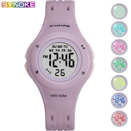 $enCountryForm.capitalKeyWord Australia - SYNOKE Girl Digital Watches Sports Waterproof Multi Function Luminous Wrist Watches Candy Color Alarm Clock Stop Watch for Kids