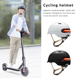 $enCountryForm.capitalKeyWord Australia - New Scooter Electric Flash Helmet For Xiaomi M365 Electric Skateboard Accessories Smart Flash Riding Helmets for men and women