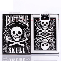 $enCountryForm.capitalKeyWord Australia - Bicycle Black Skull Playing Cards Deck Poker Card Games Magic Cards Close Up Stage Magic Tricks Magic Props for Professional Magician