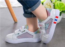 $enCountryForm.capitalKeyWord Australia - CHILDREN'S MESH SMALL WHITE SHOES SPRING AND SUMMER BOYS BIG CHILDREN FIVE-STAR SHOES 2019 NEW GIRLS BREATHABLE SPORTS SHOES