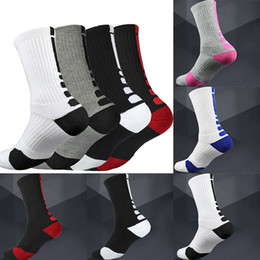 48cc715cc USA Professional Basketball Socks Thick Long Knee Athletic Outdoor Sport  Socks Men Compression Thermal Winter Warm Socks Home WX9-1223