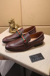 $enCountryForm.capitalKeyWord Australia - Top 18ss Men genuine leather shoes luxury casual shoes loafers slip on italian brand designer male dress shoes flattie casual shoe