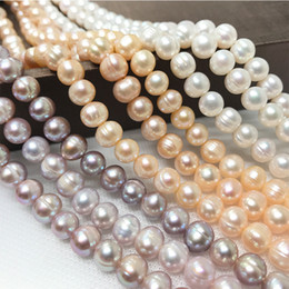 Threaded Pearls Australia - Front threaded freshwater pearl fashion Classic Necklace Jewelry
