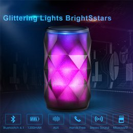 $enCountryForm.capitalKeyWord Australia - Lamp Speakers Bluetooth Speakers Wireless Speaker LED Control Colorful Night Light Hands free AUX and Portable Bluetooth Speaker deep bass
