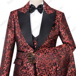 Discount bridegroom wedding suits grey - Thorndike Red Circle High Quality Peak Lapel Best Seller Suit New Design Wedding Suit 2019 Bridegroom Made Men Blazer