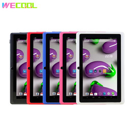 Tablet Mid Q88 Australia - WeCool Q88 HD Kids Tablet PC 7 inch Screen 1024x600 Resolution 2500Mah Battery WIFI MID Android 4.4 OS 512MB 8GB Dual Cameras