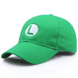 super mario hat wholesale 2019 - Super Mario Odyssey Cosplay Hat Luigi Bros Baseball Caps Anime Accessories Women Men Halloween Gifts Mario Cap Wholesale