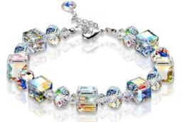 $enCountryForm.capitalKeyWord Australia - Crystal bling block geometry bracelets AB colorful bracelets wedding party birthday gifts cheap bracelet two colors 501
