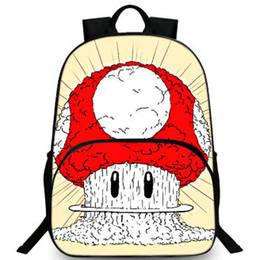 China Mushroom backpack Super Mario day pack Cute game barrier school bag Leisure packsack Quality rucksack Sport schoolbag Outdoor daypack suppliers
