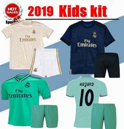 b9d72f768 2020 Kids Kit Hazard Real Madrid home away third Soccer Jersey youth boy Soccer  shirt Modric KROOS ISCO ASENSIO BALE Football uniform