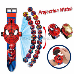 Wholesale Marvel Avengers Magic Projection Watch Toys for Children Electronic Gadgets Super Heroes Ironman Spiderman Birthday Gifts