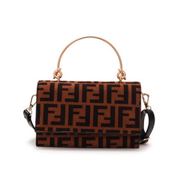 Trendy ladies backpack online shopping - 2019 Fashion F Letters Handbags PU leather Handbag Protable One Shoulder Bag Trendy Mesenger Bag Lady Zipper Tote Purse Travel Holdall C483