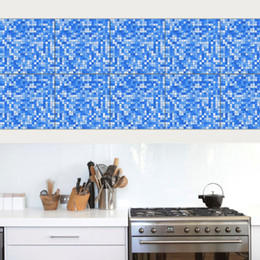 Pattern Decor Australia - Tile Sticker Self-Adhesive Art Vinyl Decal Mosaic style Pattern Bathroom Waterproof Removable Kitchen DIY Anti Oil Living Room Home Decor