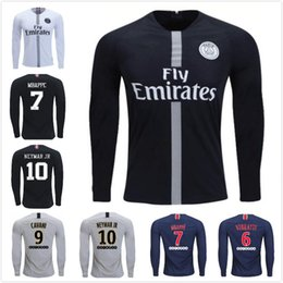 $enCountryForm.capitalKeyWord NZ - 2018 19 Thailand Quality maillot Long Sleeve PSG soccer jersey MBAPPE Saint Germain Jersey Survetement football kit Champion JD Shirt