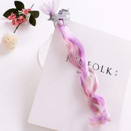 f24727b0d36113 Unicorn Wig Australia - New Arrival 12cm Kids Hair Decorations Gilding Unicorn  Lace Long Pink with