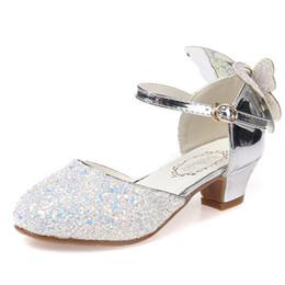 Girls sandals for weddinG online shopping - NEW Children Sandals Kids Girls Wedding Shoes High Heels Dress Shoes Party Shoes For Girls Party Dress Size