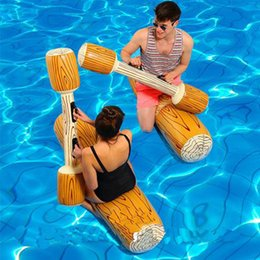 $enCountryForm.capitalKeyWord Australia - 4 Pieces set Joust Pool Float Game Inflatable Water Sports Bumper Toys For Adult Children Party Gladiator Raft Kickboard Cool